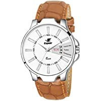 Espoir Analog White Dial Men's Watch - ES133