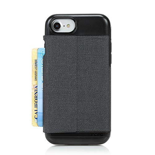 iPhone 7 Case, Incipio Esquire Wallet Series [Credit Card Case] Cover fits Apple iPhone 7 - Heather Dark Gray (Incipio Stowaway Case For Iphone 6 Plus)