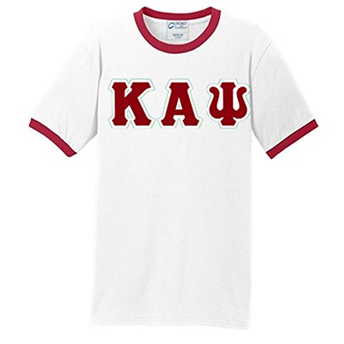 Custom Ringer - Kappa Alpha Psi Custom Twill Vintage Ringer X-Large White/Red