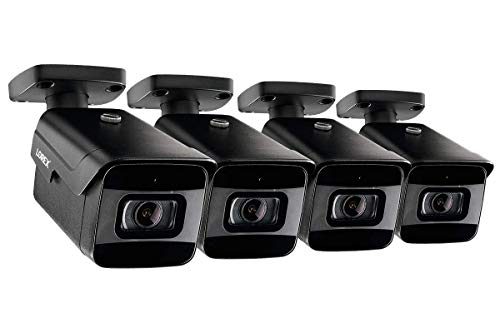 4-Pack of Lorex LNB9232S 4K 8MP 30FPS Fixed Lens Bullet Camera w/Listen-in Audio