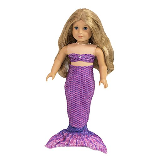 [Fin Fun Mermaid Tail Outfit for 18 Inch Doll like American Girl - Jia's Asian Magenta - Outfit Only, Doll Not Included] (Lalaloopsy Adult Costumes)