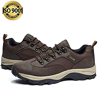CC-Los Mens Hiking Boots Waterproof Ankle Boot Shock-Absorbing EVA Casual Outdoor Lightweight Shoes