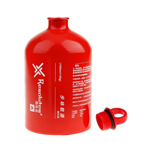Yundxi Outdoor Camping Liquid Fuel Bottle Emergency Storage Can for Petrol Gas Oil Alcohol 0.5L/0.75L/1L/1.6L ...