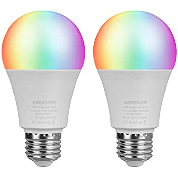 LEGELITE LED Smart Light Bulb, E26 7W WiFi Light Bulbs 2700K to 6500K Dimmable and RGBCW Color Changing, No Hub Required, Works with Amazon Echo Alexa ...