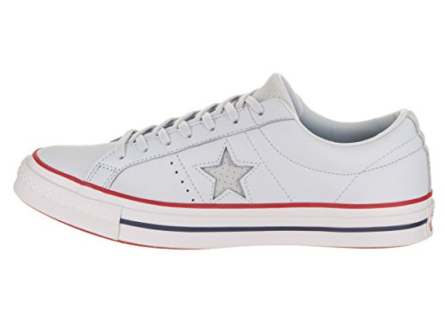 Mens Ox Converse Trainers Star Gym Tint Leather Blue One Red TddqF1