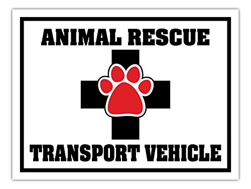 - Large Size Car, Truck, Van, SUV Door Magnet - Animal Rescue Transport Vehicle - Dogs, Cats, Etc. - 12