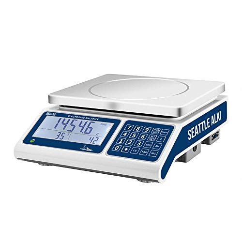 Seattle Alki Scientific Industrial Counting Scale | Digital Balance with 30kg Capacity & 0.5g Accuracy | Electronic Gram Scale Counts and Weighs Small Parts in Seconds | by Fristaden Lab