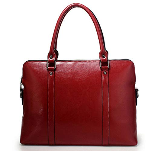 - SPFBAG Leather Female Bag Big Bag Business Leather Portable Briefcase Women's 14-Inch Computer Bag