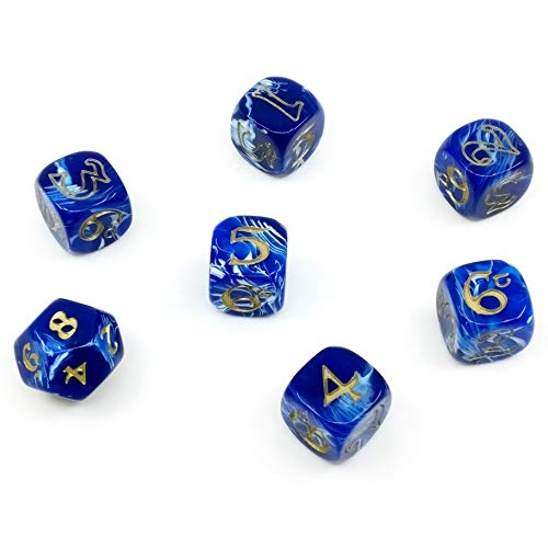 Cubicle 7 1022CB7 One Ring Dice Set Blue and White - Lord Of The Rings Dice