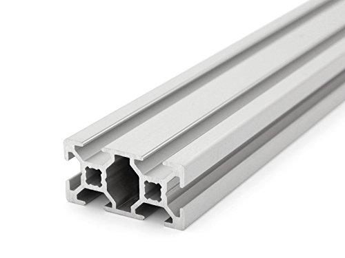 Profil/é en aluminium de type B Rainure 6. Longueur standard 1000 mm.