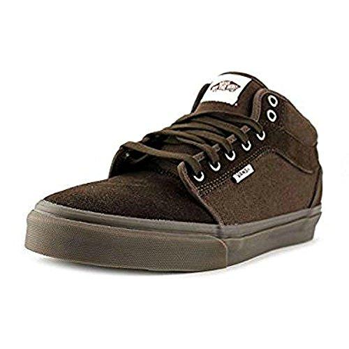 Sneaker Da Uomo In Pelle Scamosciata Marrone Medio Alta