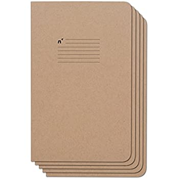 Northbooks Notebook / Journal (5 Pack), 96 College Ruled Pages, Acid Free Sheets, 5x8   Made In The USA