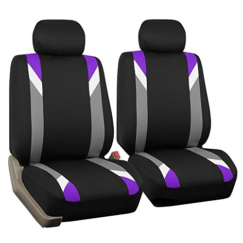 FH GROUP FH-FB033102 Premium Modernistic Seat Covers Purple / Black- (Dodge Neon Car Covers)