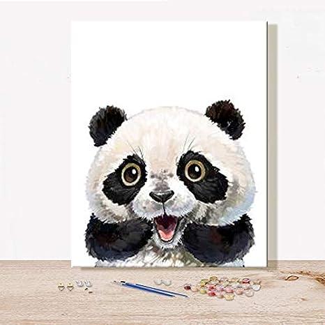 Kit de pintura al óleo para niños, estudiantes, adultos principiantes con pinceles y pigmento acrílico - Animal Lovely Rabbit Cat Panda