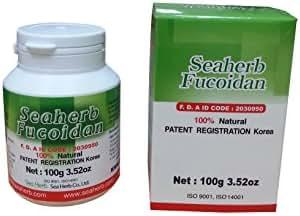 100% Natural Brown Seaweed Extract SEAHERB Fucoidan USFDA Passed (US FDA ID Code 2030950) (100g/bottle, Powder)