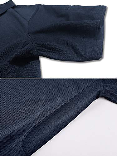 TACVASEN Poids léger Séchage Rapide Manche Longue Chemise Polo Respirant Top T Shirt Homme 3