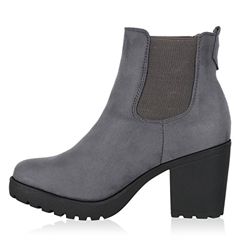 Boots Women's Stiefelparadies Women's Chelsea Boots Grau Chelsea Stiefelparadies Stiefelparadies Grau Ax48Oqwx