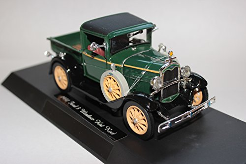 1931 Ford Model A Pick Up Truck In Dark Green Diecast Scale Model By National Motor Museum Mint