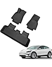SEDRITENT for Tesla Model Y2020 2021 All-Weather Floor Mats,Cargo Trunk TPE Mat Liners Tray and Storage Box Mat