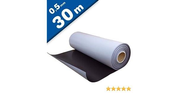 Lámina magnética autoadhesiva 0,5mm x 0,62m x 30m - puedes adherir otros materiales como por ejemplo fotografías, cartulina, papel, y todo lo que te brinde tu imaginación.: Amazon.es: Hogar