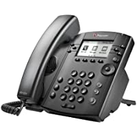Polycom VVX 301 Corded Business Media Phone System - 6 Line PoE - 2200-48300-001 - AC Adapter (Included)