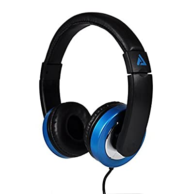 Audio Council Titan On-Ear Stereo Headphones Sleek Design with Chrome Accents for Teens Men Women Comfortable Headset for Computer, PC, Laptop, Tablets, iPhone, Smartphones (Black/Blue)