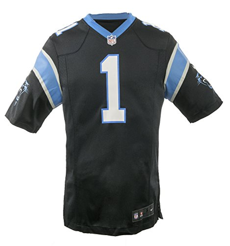 The Nike Carolina Panthers Cam Newton NFL Game Team Jersey Black/Tidal Blue Size - Jerseys Panthers Mens