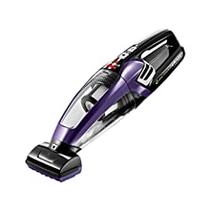 Remove more embedded dirt and pet hair with a motorized brush tool and 14V lithium ion battery. The pet hair eraser handheld cordless vacuum features triple level filtration and a large, easy-to-empty dirt bin to help get rid of pet hair easi...