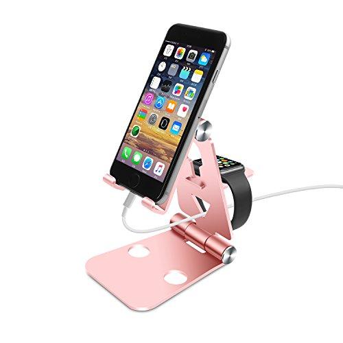 Aluminum Mobile Desktop Station Holder Phone Dock Cradle Holder For iPhone (Gold) - 5