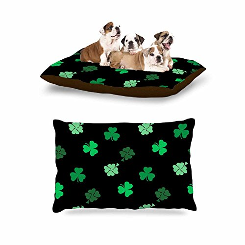KESS InHouse NL Designs ''Shamrocks'' Green Holiday Dog Bed, 30'' x 40'' by Kess InHouse