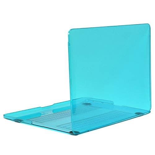 TOP CASE Aqua Blue Crystal Hard Case Compatible with Apple MacBook Pro 13.3