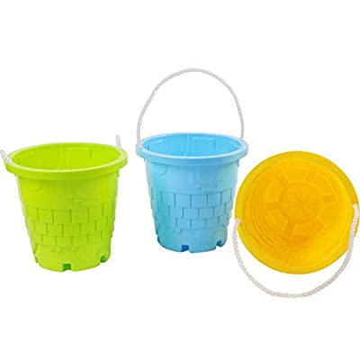 PLAYBERG Set of 3 Sandcastle Mold Beach Pails: Toys & Games