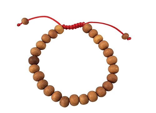 Tibetan Sandalwood Wrist Mala Bracelet for Meditation ()