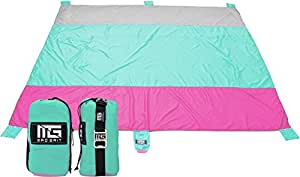 Mad Grit Huge Sand Proof Quick Drying Travel Family Beach Blanket X Large 9 x 10