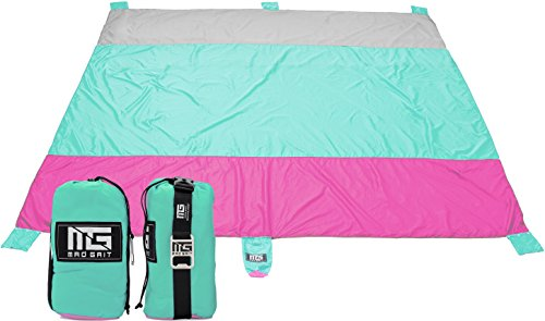 Deals Best (Best Deal! HUGE Sand Proof Quick Drying Travel Family Beach Blanket X Large 9 x 10)
