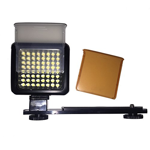 Sima SL-300LXi Pro LED Video Light with Filters 64 LEDs/800 Lumens (Black)