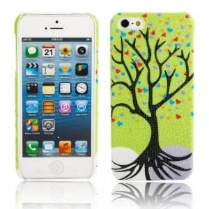 Tree Branch Pattern Protective PC Case for iPhone 5/5S Green