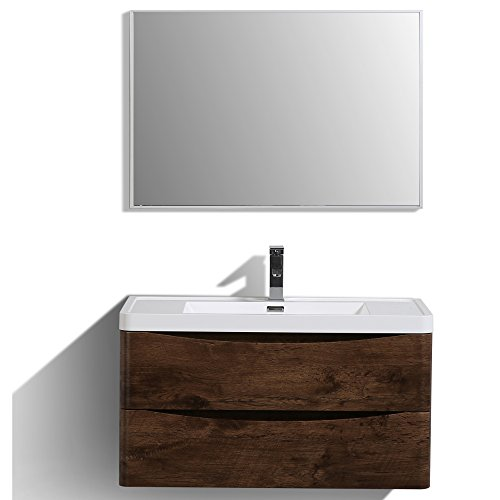 Eviva EVVN900-36RSWD-WM bathroom Vanities Rosewood