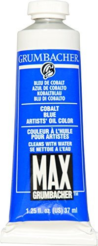Grumbacher Max Water Miscible Oil Paint, 37ml/1.25 oz, Cobalt Blue by GRUMBACHER