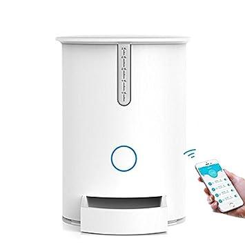 GUORZOM APP Remote Automatic Timer Pet Feeder Cat/Dog Dispensador De Alimentos 2.8L Almacenamiento Con Conexión Wifi Compatible Para IOS/Android: Amazon.es: ...
