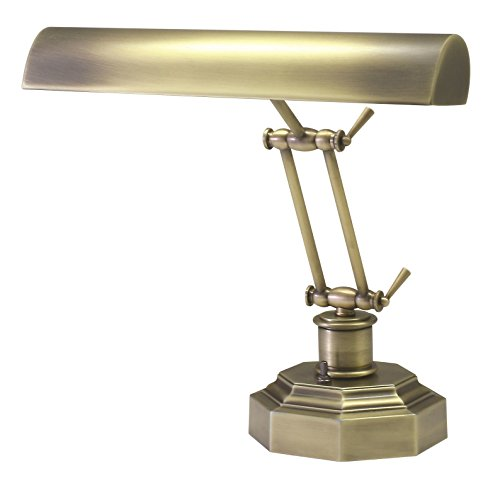 House of Troy P14-203-AB 12-1/2-Inch Portable Desk/Piano Lamp, Antique Brass Antique Brass Portable Table Lamp