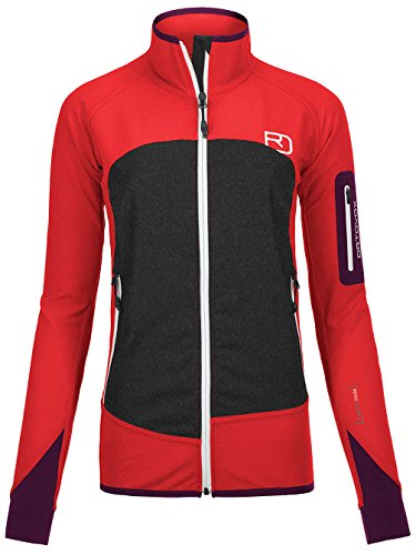 Ortovox Piz Badile Merino Shield Shell Jacket Women - hot coral