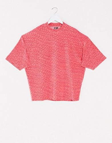 エイソス 半袖Tシャツ メンズ ASOS DESIGN oversized t-shirt with half sleeve in heavyweight rainbow velour [並行輸入品]
