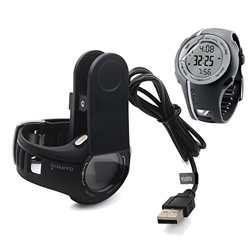 Garmin Forerunner 110 210 Approach S1 Charger With Screen Protector (3.3ft) ,TUSITA Replacement USB Charge Charging Cable Wire Cord Dock Clip For Forerunner GPS Watch (Usb Cable Guard)