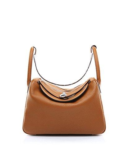 Ainifeel Women's Genuine Leather Hobo Shoulder Bag Everyday Purse