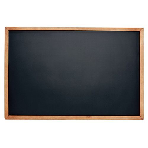 Porcelain Black Chalkboard - VersaChalk Framed Magnetic Chalk Board Sign for Wall with Hanging Mounts, 18 x 24 Inches
