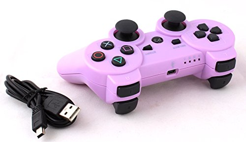 USPRO PS3 Bluetooth 6 Axis Wireless Game Controller Gamepad Joypad with Charging Cable for SONY Playstation 3