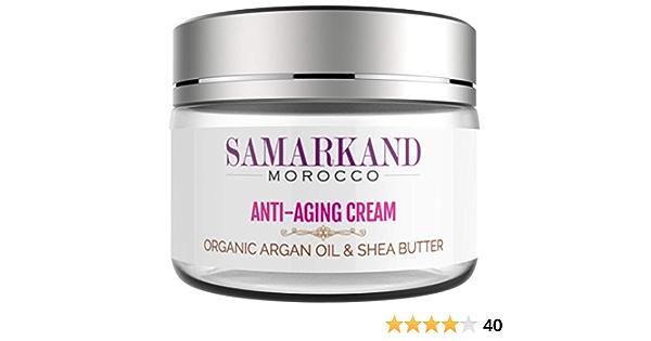 Crema Facial Antiarrugas y Antienvejecimiento con Aceite de Argán Orgánico 100% Marroquí y Manteca de Karité para Día y Noche (Original de Marruecos) ...