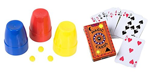 Price comparison product image Nikki's Knick Knacks Magic Trick Set- Cups and Balls and Magic Cards