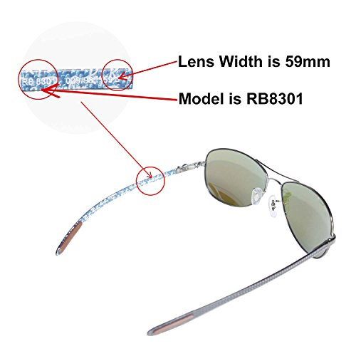 df48977d19 Amazon.com   Walleva Replacement Lenses for Ray-Ban RB8301 59mm Sunglasses  - Mulitple Options Available (Black - Polarized)   Sports   Outdoors